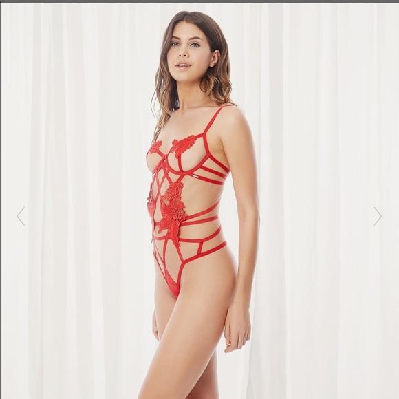 216bf807259 BlueBella Intimates & Sleepwear | Nikita Body Red Body Suit | Poshmark